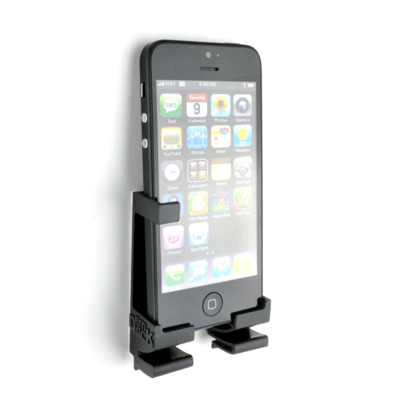Dockem Universal Smartphone, & Tablet Wall Mount for iPhone, iPad, or Android; Damage-free Dock design
