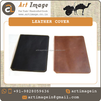 New Design Black and Brown Velvet Lining Leather Tablet Case Cover for ipad