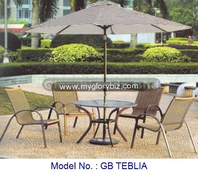 Rattan outdoor elegant furniture, garden set