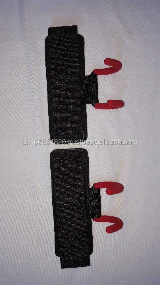 Weight Lifting Hooks with Supporting Wrist Straps FOR DEADLIFT WORKPUTS