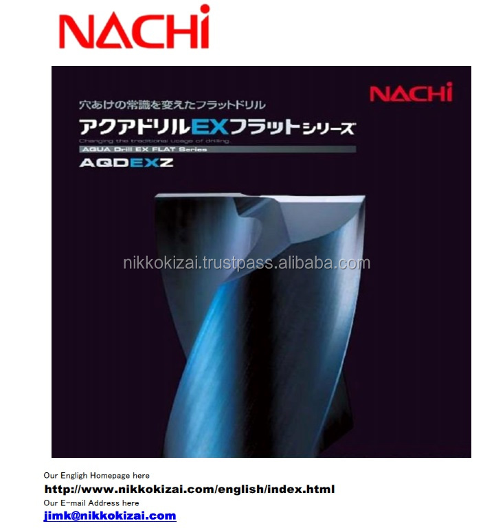 High precision made in japan carbide drills with oil hole for Nachi for drilling on mold for metal speaker box at good price
