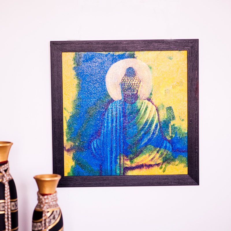 Meditating Lord Buddha Canvas Handpainting