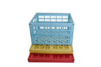 Handy foldable plastic basket cheap price for saving fruits, vegetable