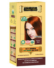 NON ALLERGIC, NO PPD, NO AMMONIA , NO CHEMICALS INDUS VALLEY 100% BOTANICAL HAIR COLOR