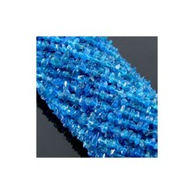 Neon Blue Apatite 4-5mm Beads Strand