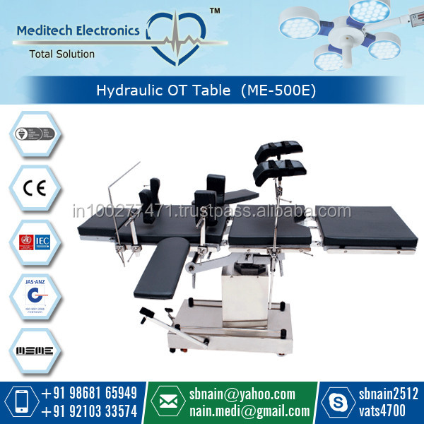 Surgical Operation Table with Antistatic Mattresses for Sale