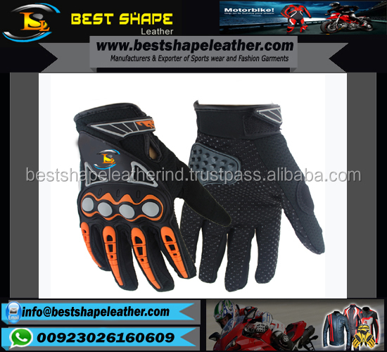 Leather protected motorcross gloves and motorcycle riding gloves/wholesale motorcycle racing gloves/motorbike mtb moto motocross