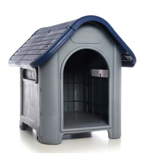 Plastic Dog House-Blue 29.13x22.44x25.98 In.