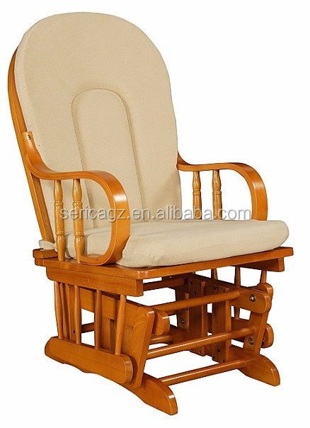 1615 3085 Glider Rocker With Pattern Fabric Comfortable Wooden Rocking Chair Buy Furniture