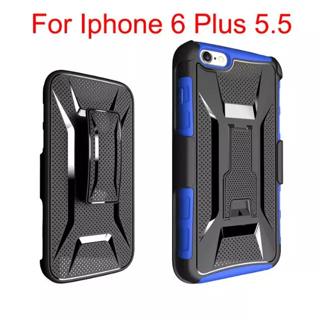 3 in 1 Shockproof Cover For Samsung Galaxy S6 Case High Impact Stand Belt Clip Kickstand Case For Galaxy S6 G9200 Rubber Cover