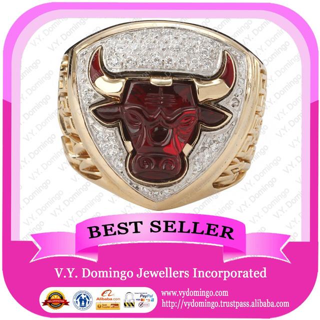 Chicago Bulls Basketball Championship Ring Super Deep Engraved