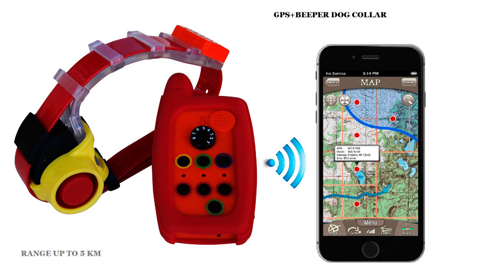 Waterproof remote dog beeper with gps tracker collar for hunting dogs No sim card needed