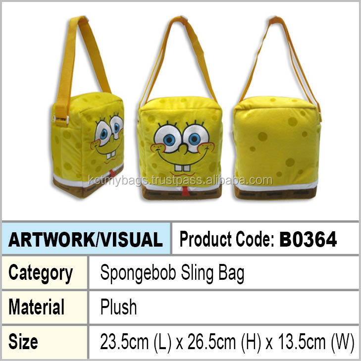 plush cute sling bag