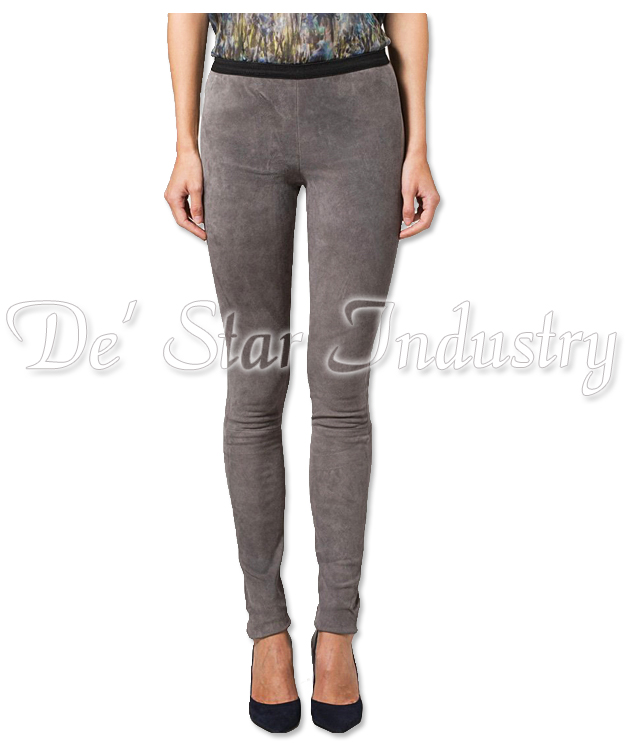 High Quality Ladies Fashion Soft Goat Suede Leather Trousers and Pants