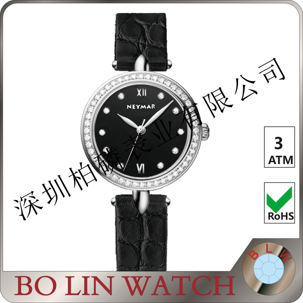 Manufacture Girl fashion ladies Jewelry Watch quartz leather diamond ornaments wrist watch