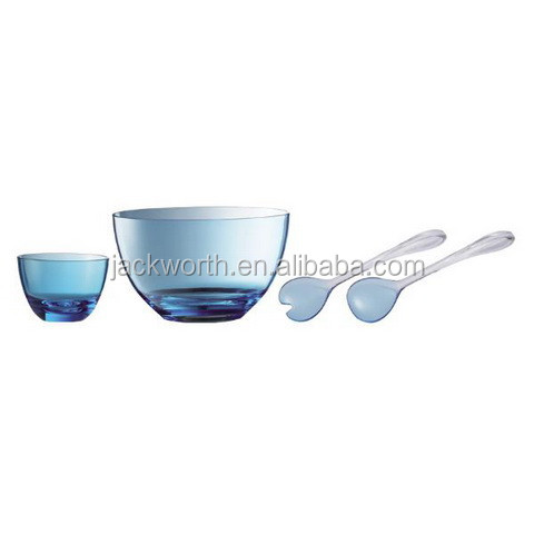 Acrylic Salad Bowl - Salad Serving Bowl Set with Server