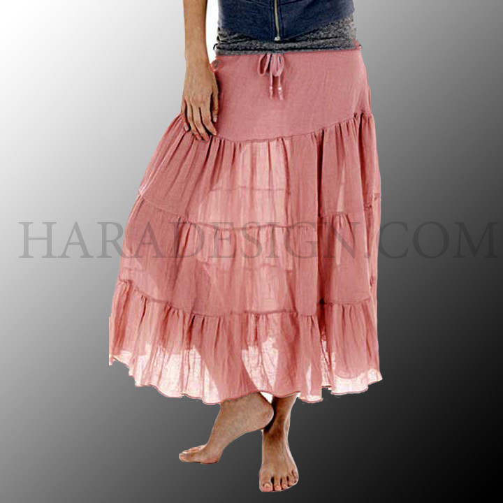 Calf Length Panel Skirt