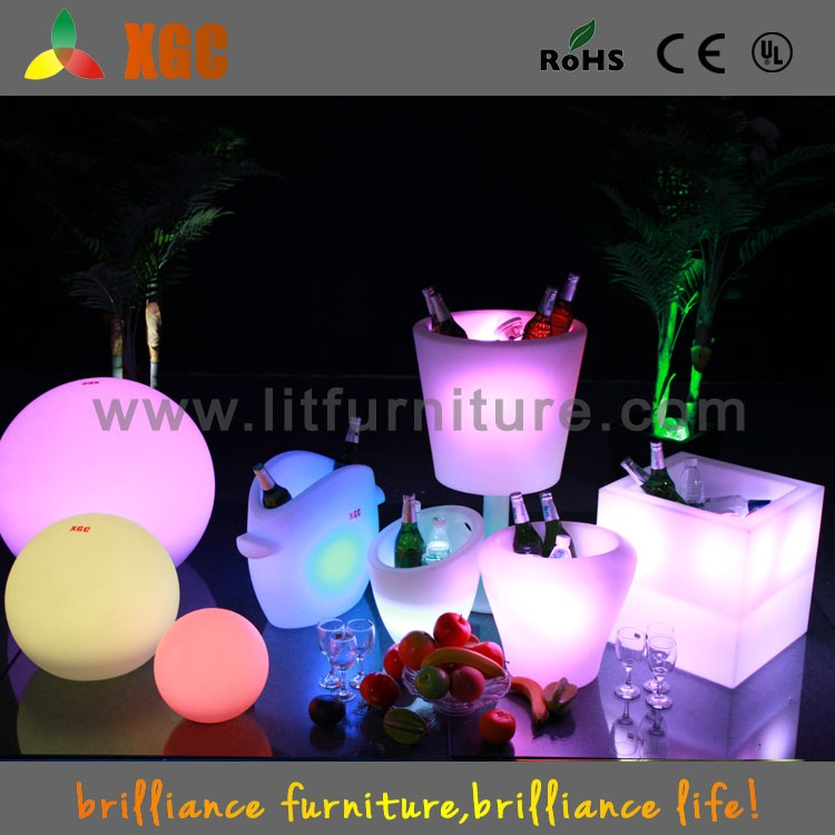 LED square ice bucket round high ice bucket GH209