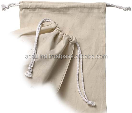 Carrier Bags Cords Draw String Pouch cords Cotton Bag Rope