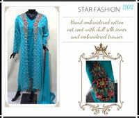 Latest elegant designer exclusive Pakistani Indian Salwaar Kameez