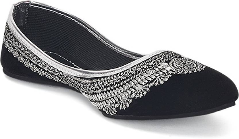 Black Indian Handmade Stylish jutti For Women punjabi jutti shoes