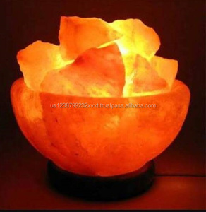 Round Shape Fire Bowl Salt Lamp with Chunks