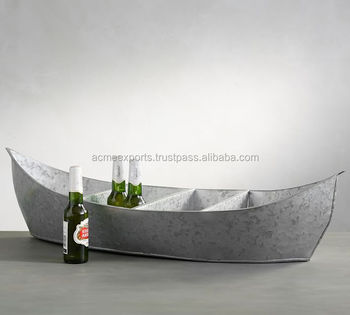 Galvanized Party Boat Beer Tub | Galvanized Beverage Tub