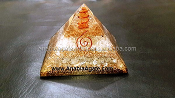 Crystal Copper Layer Orgone Pyramid With Crystal Quartz Point And Copper Coil : Orgone Pyramid From India On Alibaba