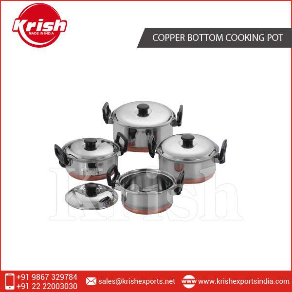 5 Pcs Stainless Steel Cookware Set Cooking Pot/ Copper Bottom Cooking Pot Set with Bakelite Handle