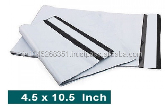 white color self-adhesive courier bags(CB-101)in india