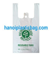 Company name customized logo LDPE manufacturer t shirt design plastic bag