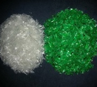 Regrinded pet Bottle Flakes in all colours and Pet Strap Green Flakes