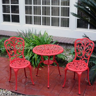 Garden Furniture, Cast Aluminium Bistro Set, Outdoor And Indoor Furniture