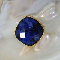 Dyed Blue Sapphire Ring