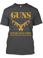 Gun's Guns Gangsters Black Screen Printed Quality Short Sleeve Collarless Collar Less Superior King Size Tee Tshirt T-Shirt Men