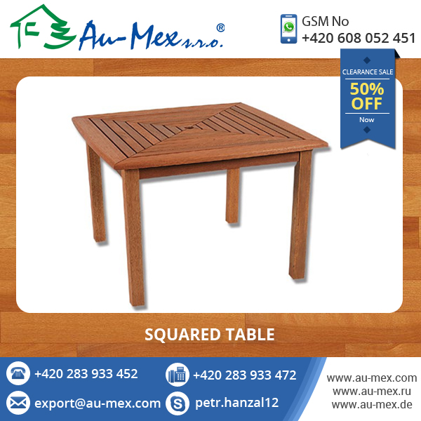 Modern Design Square Garden Table for Sale at Offer Price