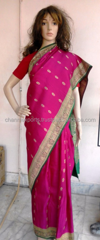 Original vintage recycled zari saris from India