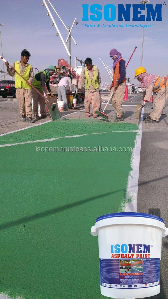 ISONEM ASPHALT ROAD PAINT, FLAT AND STAMPED ASPHALT, CONCRETE PAINT