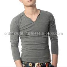 new shirt models skin tight long sleeve t shirt for gym&fitness wear men grey