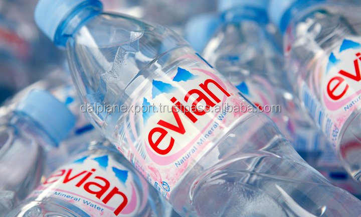 Pure Evian Sparkling Mineral Water