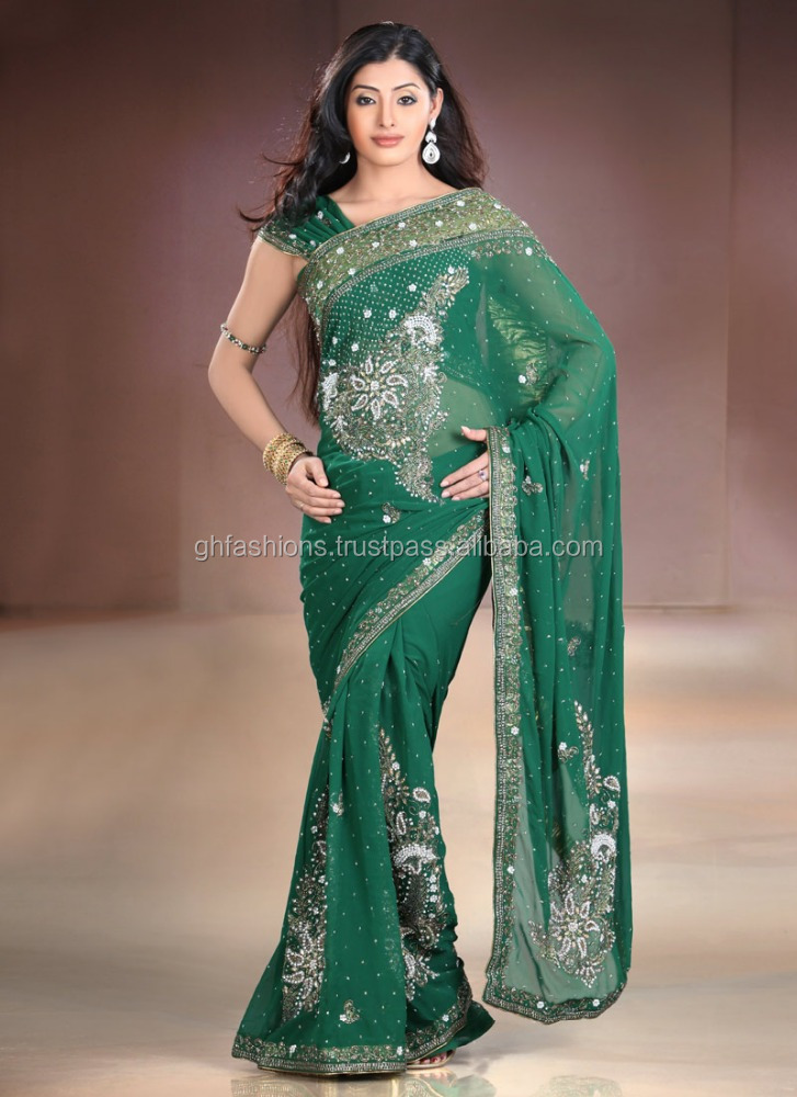 Stone work designer hot saree 2016-2017