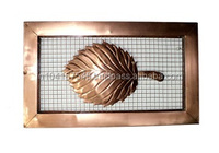 Metal Art Leaf wall decor, Copper wall art