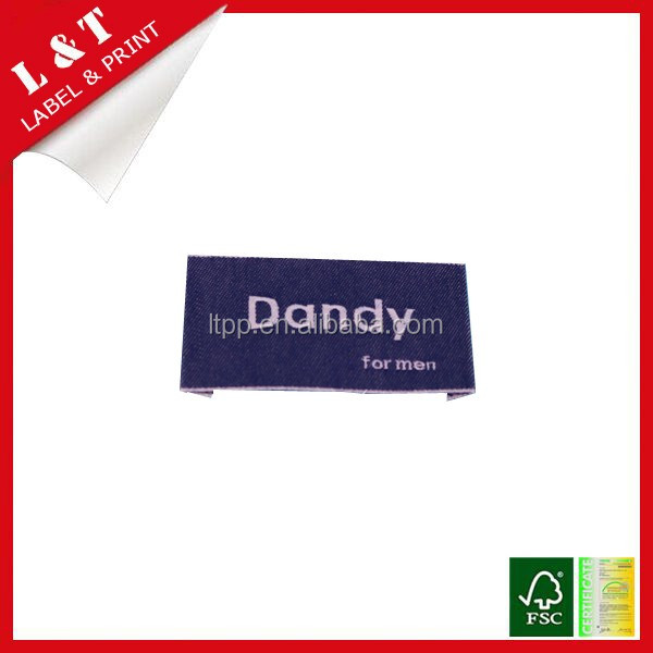 Chinese supplier customized delicate fabric clothing woven label, main labels