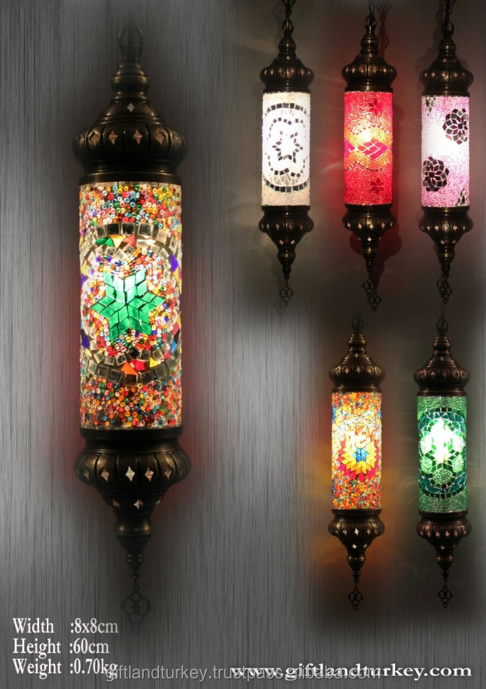 SPIRAL CYLINDER MOSAIC LAMPS SETS OF 3