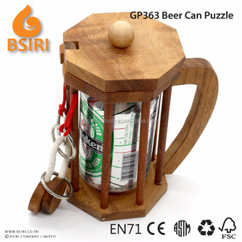 Alcohol Beer Can Puzzle Gifts Christmas Puzzle Bottle Holders