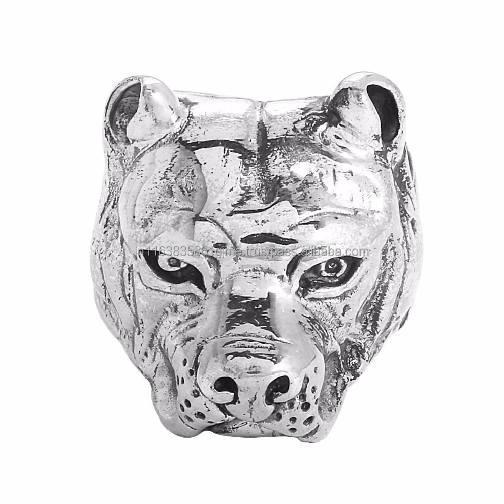 New Brand Fashion Design 925 Sterling silver rings Tiger Head Shape Rings, Wholesaler Low Price Silver Ring SHRI0350