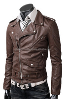 Men's Leather Fashion Jackets made of Sheep Leather