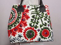 Handbag Indian TOTE SHOULDER BAG Trible Vintage suzani embroidery women ethnic bags