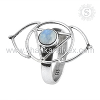 Created Rainbow Moonstone Wholesale Silver Jewelry Online Ring Wholesaler 925 Sterling Silver Jewellery
