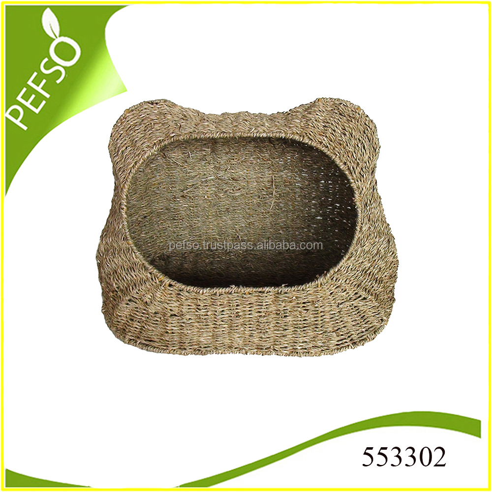 Cute Seagrass Cat Cage